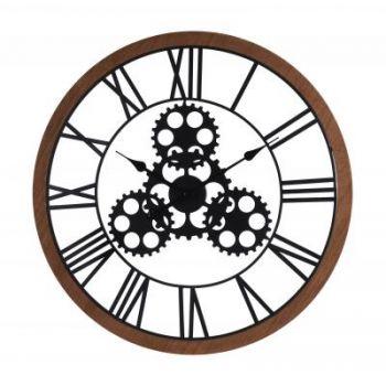 Ceas perete, stil Industrial, diametru 70 cm