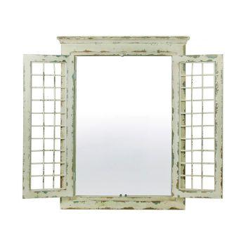 Oglinda, cadru cu obloane, model antichizat