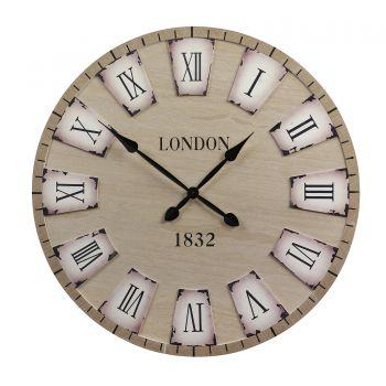 Ceas perete, lemn, London, diametru 79cm