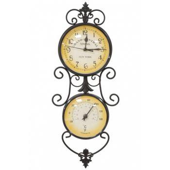 Ceas de perete, cu termometru