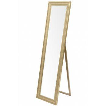Oglinda cu picior, auriu, 170x45x49 cm