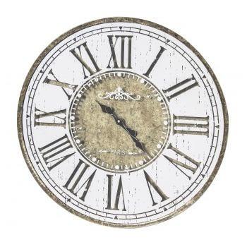 Ceas de perete, metalic, design antic, diametru 60