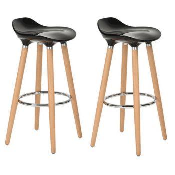 Set 2 scaune bar Jasmine negru