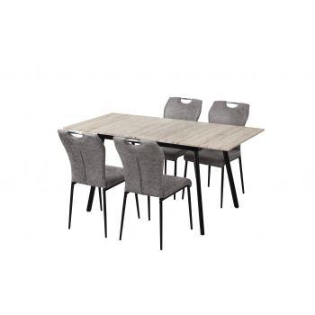 Set Masa dining extensibila cu 4 scaune