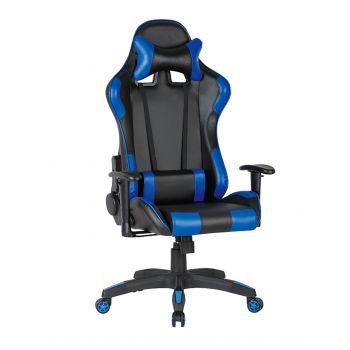 Scaun gamer US90 Silverstone negru-albastru