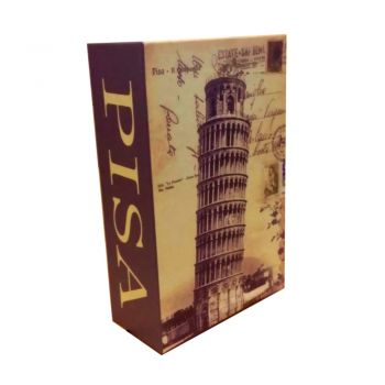 Seif tip carte Leaning Tower of Pisa cu cifru