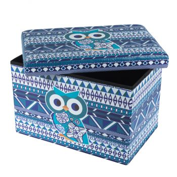 Taburet Design 48X32 Blue Owl