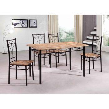 Set masa Vera cu 4 scaune, mozaic