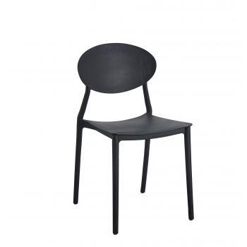 Scaun living Oval negru