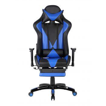 Scaun gamer US90 Suzuka negru-albastru