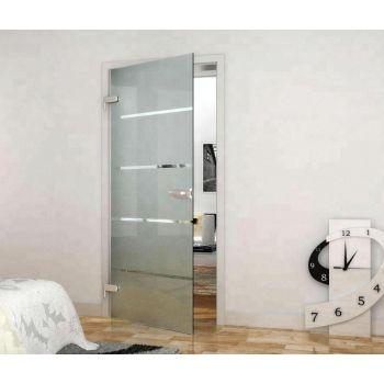 Set ușă sticlă batantă cu design