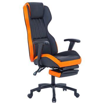 Scaun directorial US77 Kronos negru-portocaliu