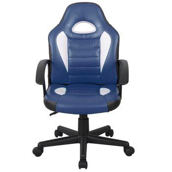 Scaun gamer US92 Euro albastru-alb