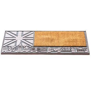 Covoraș intrare Postmat 45x75 cm design Londra