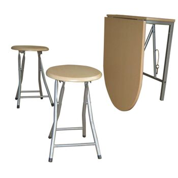 Set masă cu două scaune Napoli, stejar alb