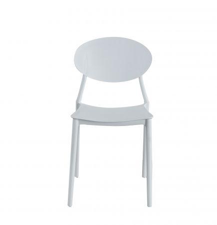 Scaun living Oval alb