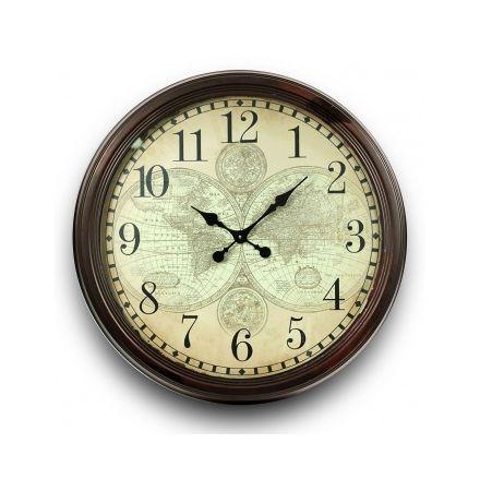 Ceas de perete, model harta, diametru 70 cm