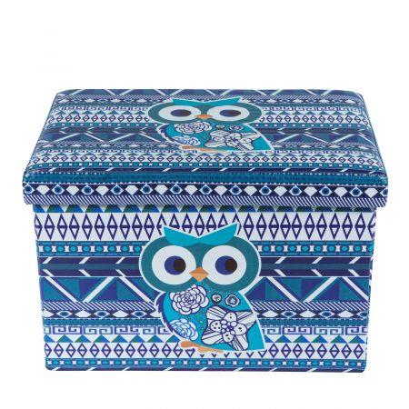 Taburet Design 48X32 Blue Owl