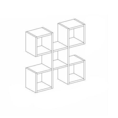 Raft de perete geometric Nora